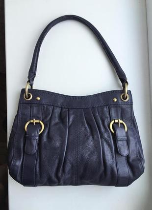 Кожаная сумка laura ashley