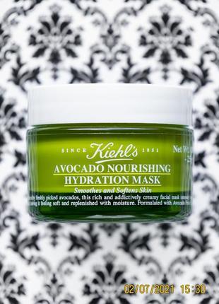 Kiehl's питательная маска с авокадо для лица kiehls avocado nourishing hydration mask 25 г