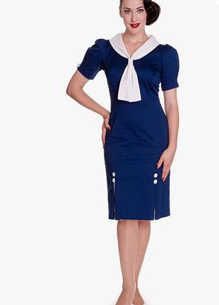 Пинап платье морское рокабилли ретро