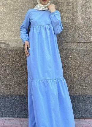 Базовое платье макси из коттона