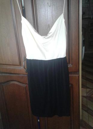 Коктейльное платье mango с открьітой спинкой