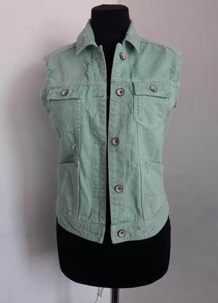 Распродажа !!!🎉  стильный джинсовый жилет от zara, s/xs
