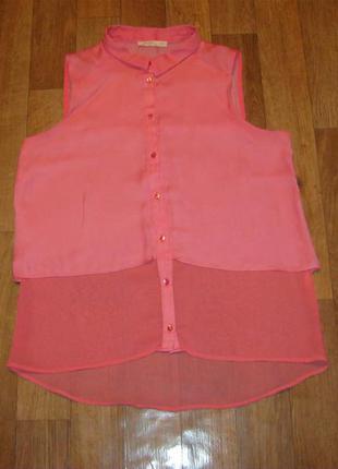 Літня фірмова блуза рожевого кольору