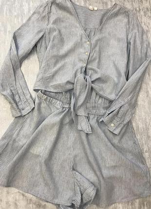 Комбинезон с шортами в полоску gap