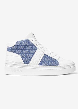 Кожаные крокодиловые кроссовки michael kors. оригинал, новые