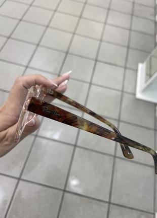 Ray ban женская оправа для очков пластиковая цвета прозрачного пудрового с коричневыми дужками2 фото