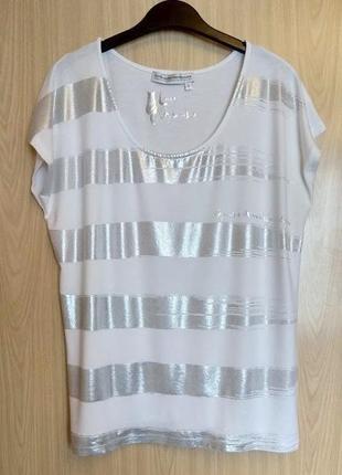 Летняя белая блуза guido maria kretschmer (германия), футболка вискоза, р. l