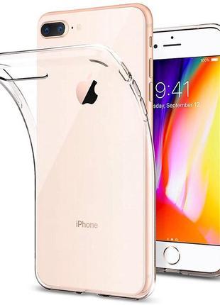 "Tpu чехол epic transparent 1,0mm для apple iphone 7 plus / 8 plus (5.5"") (бесцветный (прозрачный))"