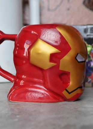 Кружка чашка фигурная железный человек