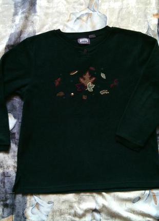 Флисовый свитер xl р