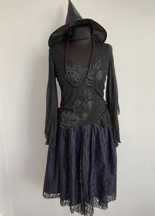 Ведьма вампир готическая готичная костюм карнавальный м