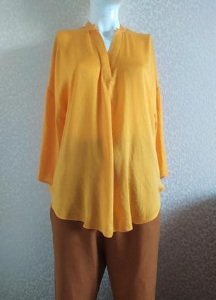 Удлиненная желтая блуза canda