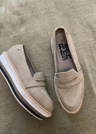 Крутые  туфли лоферы refresh