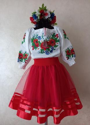 Святковий костюм (вишиванка,спідничка)