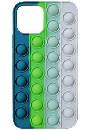 """Силиконовый 3d чехол-антистресс pop it bubble для apple iphone 12 pro / 12 (6.1"""")"""