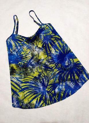 Майка блузка топ блуза в тропический принт dorothy perkins