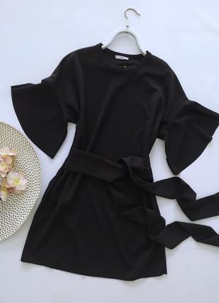 Стильное платье с широким поясом mango