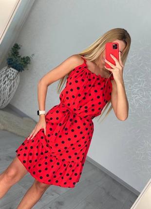 Женский сарафан платье яркое красное летнее не лето купить легкое тонкое дышит недорого