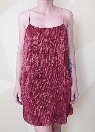 Вечірня сукня в паєтках