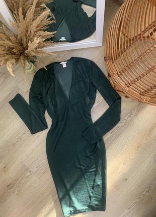Красивое платье с длинным рукавом h&m