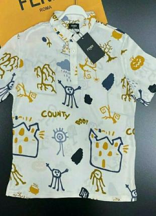 Крутая эксклюзивная рубашка,принт🔥 размер хс-с.