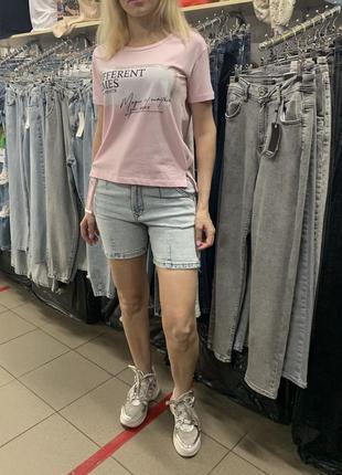 Костюм летний прогулочный женский с джинсовыми шортами raw