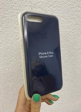 Силиконовый чехол для iphone 7plus 8plus синий