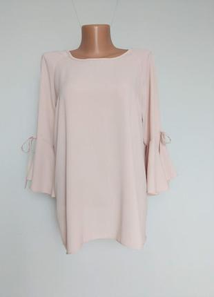 Красивая лёгкая блуза, расширенным рукавом к низу. 14(42)