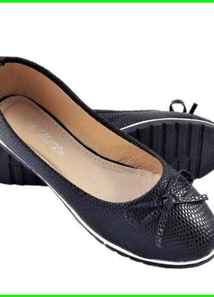 Женские балетки чёрные мокасины туфли (размеры: 37,38,39) - 26