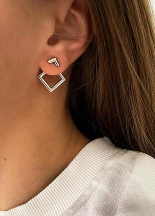 Мінімалістичні срібні сережки 😍 серёжки серьги сережки серебро