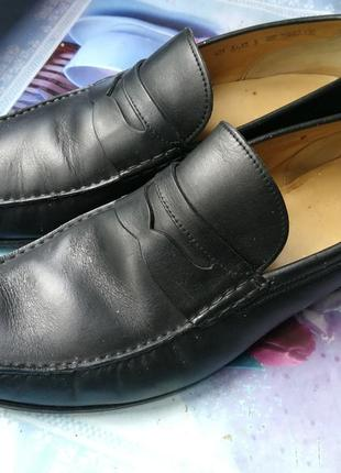 Мужские черные туфли лоферы мокассины bally termez switzerland