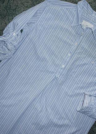 Рубашка - хлопок с подкатом рукава