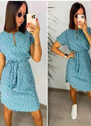 ️легкое летнее платье в горошек