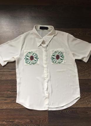 Женская рубашка на короткий рукав