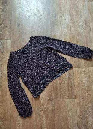 Блуза топ в цветочный принт из вискозы