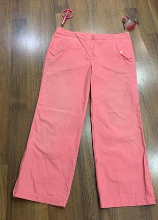 Розовые джинсы с вышивкой и бисером большого размера