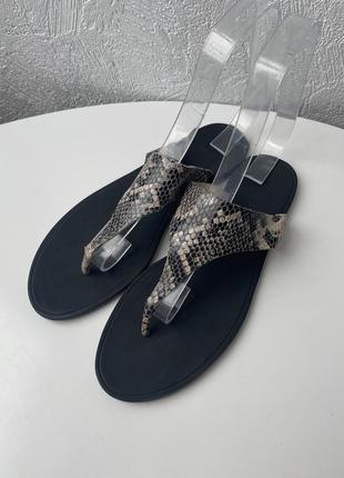 Кожаные тапочки h&m