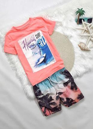 Летний набор футболка + шорты на 5-6 лет, состояние идеальное