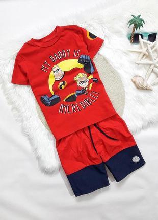 Летний набор футболка + шорты, на 5-6 лет, состояние идеальное