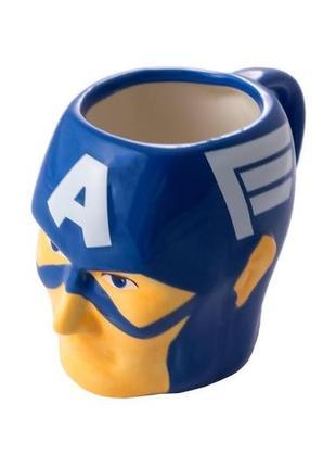 Кружка чашка фигурная капитан америка