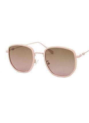 Солнцезащитные очки sumwin polar шестиугольные в оправе розовая пудра