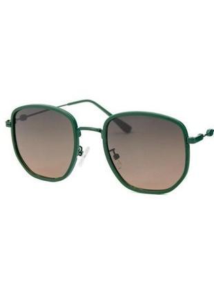 Солнцезащитные очки sumwin polar шестиугольные в зеленой оправе