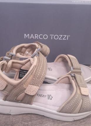Marco tozzi босоножки в спортивном стиле  р 37  кожа супер цена