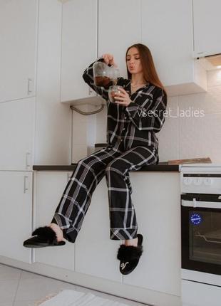 Фланелевая пижама виктория сикрет