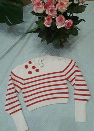 Корокий свитер zara
