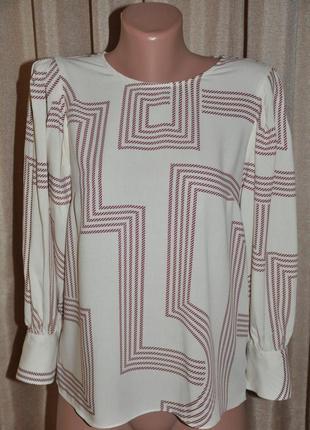 Легкая блуза с рукавами-фонариками