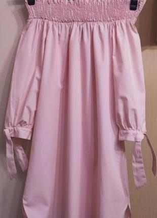 Шикарное фирменное платье рубашка сарафан розовое