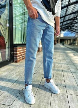 Люксові мом джинси в світлому кольорі