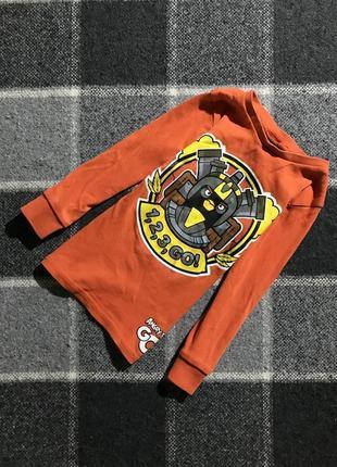 Детская хлопковая кофта (реглан) с принтом h&m ( эйч энд эм 2-4 года 92-104 см идеал оригинал)