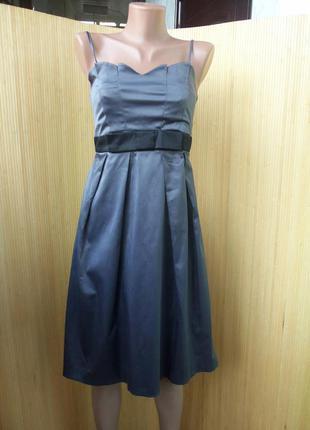 Французское винтажное нарядное коктейльное летнее платье бюстье с открытой спиной